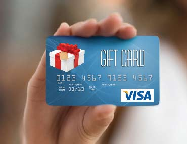 VISA, Gift Card, Hand, Shopping, Gift
