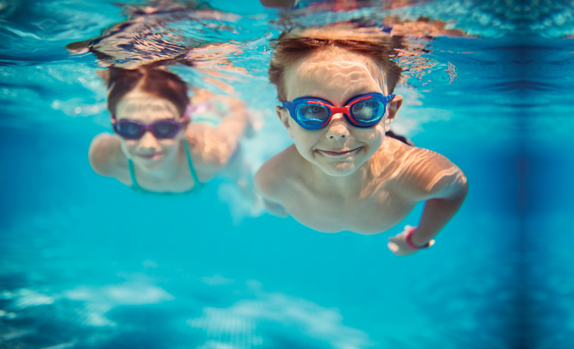 Picture of children swimming under water to go with our new accounts ad.