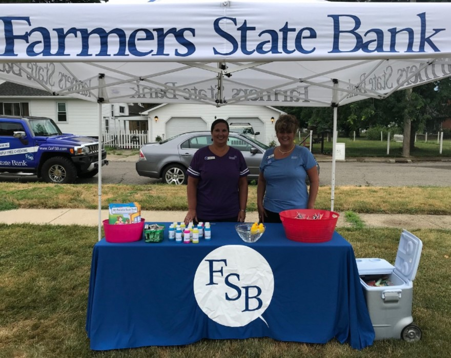 FSB employees at the Bronson Polish Festival Kids Day in 2018