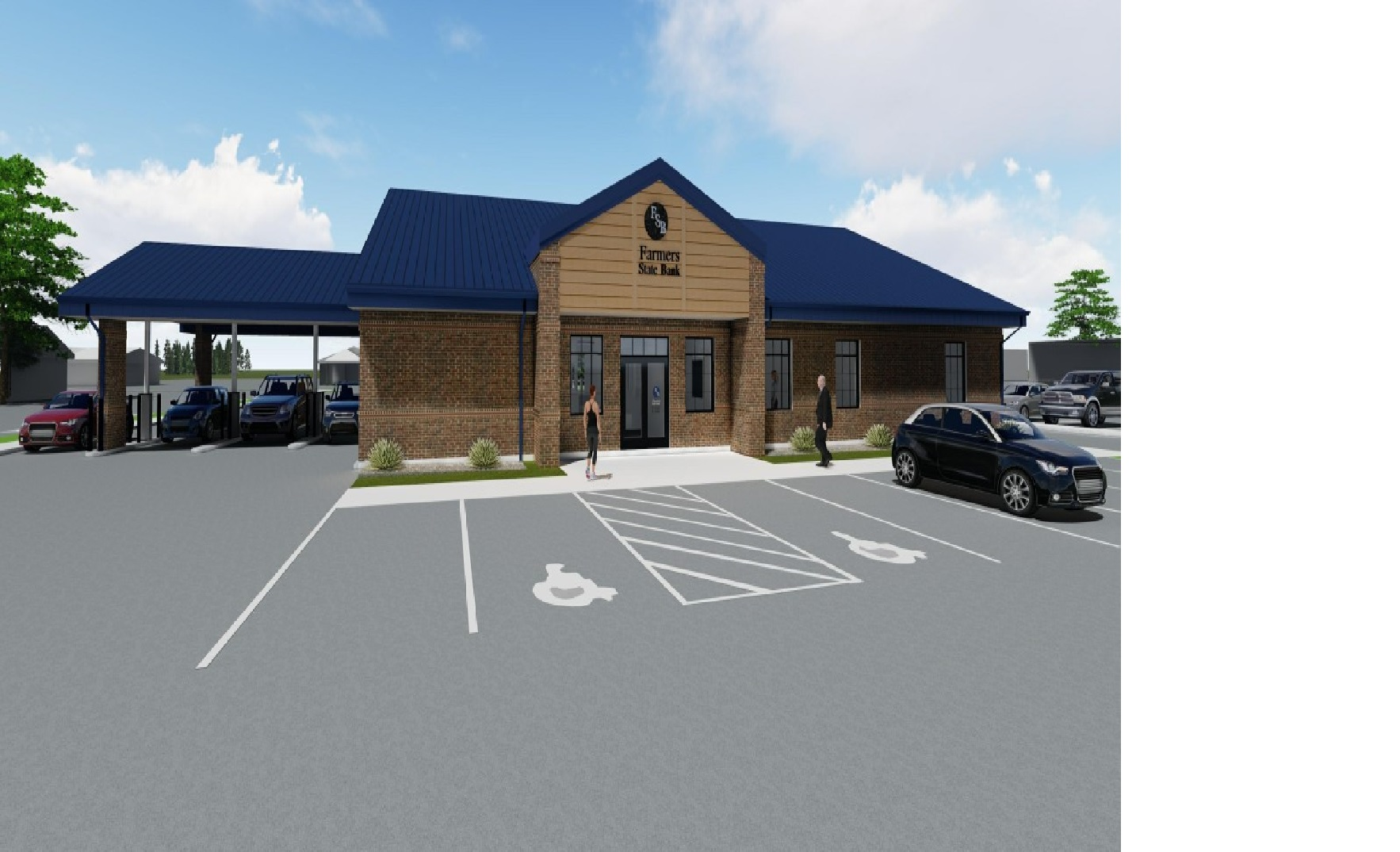 This is an image rendering of the new LaGrange Customer Office.