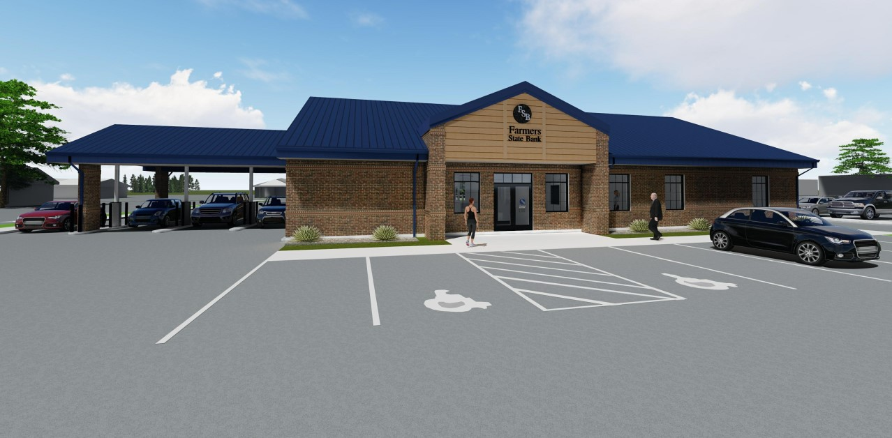 This is a rendering drawing of the new LaGrange branch location